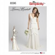 8596 Simplicity Pattern: Misses' Special Occasion/Wedding Dress